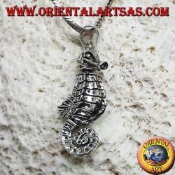 Silber Anhänger Seepferd Hippocampus bewegen