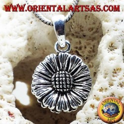 Sunflower pendant in silver