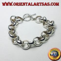 Bracciale  in argento ad anelli