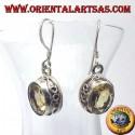 Orecchini in argento con Topazio ovale sfaccettata Nepal