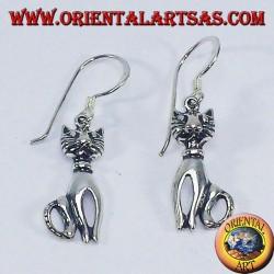 Orecchini in argento, Gatto