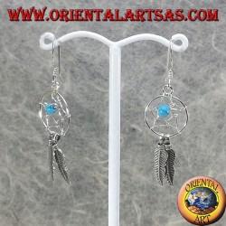 orecchini in argento acchiappasogni piccolo, con sfera