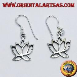 boucles d'oreilles en argent, fleur de lotus
