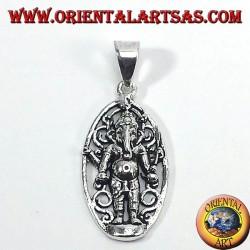 silver pendant, Ganesh standing