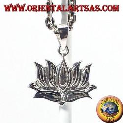 silver pendant, Lotus flower (lotus)