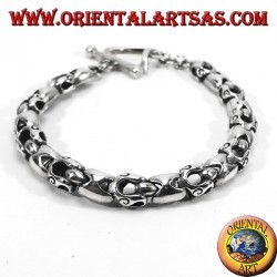 Silver bracelet articulated