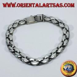 Silver bracelet crescent chain