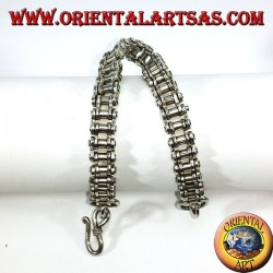 Silver bracelet, motorcycle chain