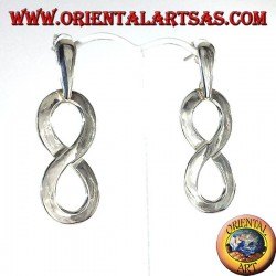 silver earrings, infinite