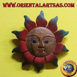 Sole il legno di teak colorato
