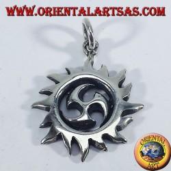 Silver pendant solar Tomoe