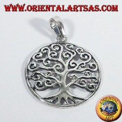 Silver Pendant tree of Life Klimt, large