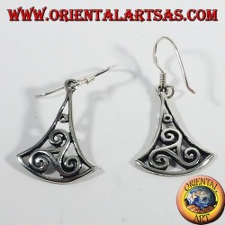 Silver earrings triskele