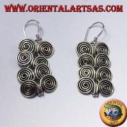Silberohrring , acht Spiralen