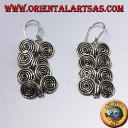 silver earring, eight spirals