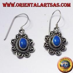 orecchini in argento con turchese ovale