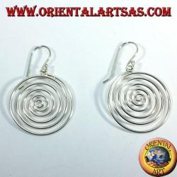 Orecchini d'argento, spirale pendente