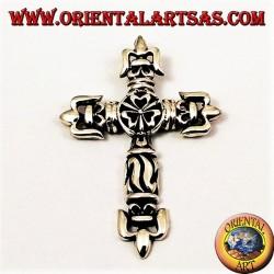 ciondolo d'argento croce gotica