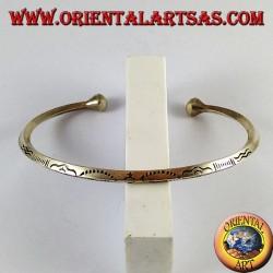 Bracciale in argento, scolpito a mano profilo rombo