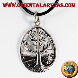 Silver Pendant Tree of Life Yggdrasil big