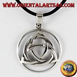 Ciondolo d'argento, nodo di tyrone Triquetra nel cerchio