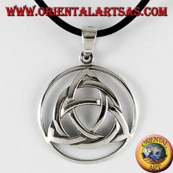 Silver Pendant, of tyrone Triquetra node in the circle