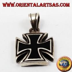 Ciondolo in argento croce di Malta (croce di ferro )