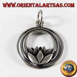Lotus flower pendant in silver (symbolizing purity)