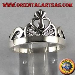Anillo de plata corona de la princesa