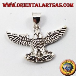 pendant silver eagle with open wings