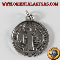 Médaille de Saint Benoît argentée