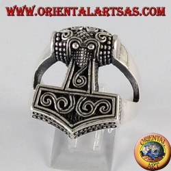 Anello d'argento Mjöllnir martello di Thor