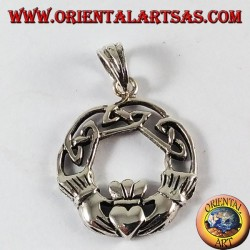 Silver Pendant, Claddagh