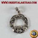 Ciondolo d'argento, claddagh simbolo celtico