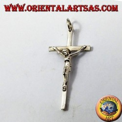 Simple silver crucifix pendant