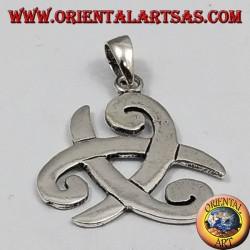 colgante de plata, sombrero de tres picos de Odin