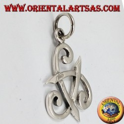 silver pendant, three-cornered hat of Odin or horn triskell