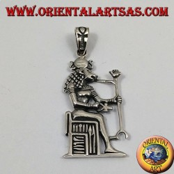 Ciondolo in argento Sekhmet (anche Sachmis, Sakhmet, Sekhet o Sakhet)