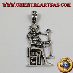 colgante de plata Sekhmet (también Sachmis)