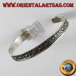 Rigid silver bracelet, handmade