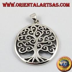 ciondolo d'argento, albero della vita (grande)