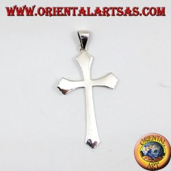 Silver Pendant, simple Gothic cross