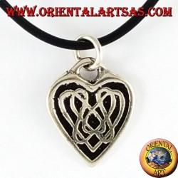 Colgante de plata del nudo céltico del corazón