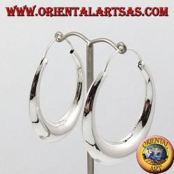 Boucles d'oreilles en forme de croissant cercle grand argent