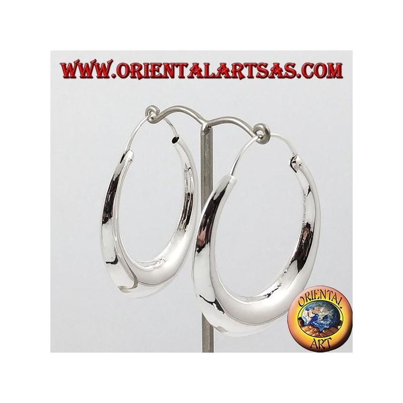 selezione più recente in vendita online ultimo stile orecchini cerchio mezzaluna in argento grande - Oriental Art sas BARI