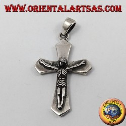 Pendentif argent, crucifié