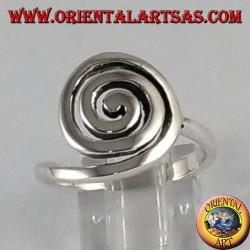 Celtic spiral silver ring