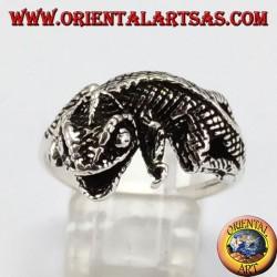 Anello in argento geco