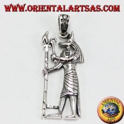 Silver pendant, Anubis