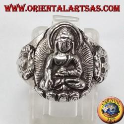 Серебряное кольцо Будды
